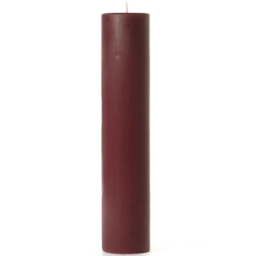 2x9 Scented Leather Pipe & Woods Pillar Candle