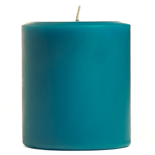 3x3 Scented Blue Christmas Pillar Candle