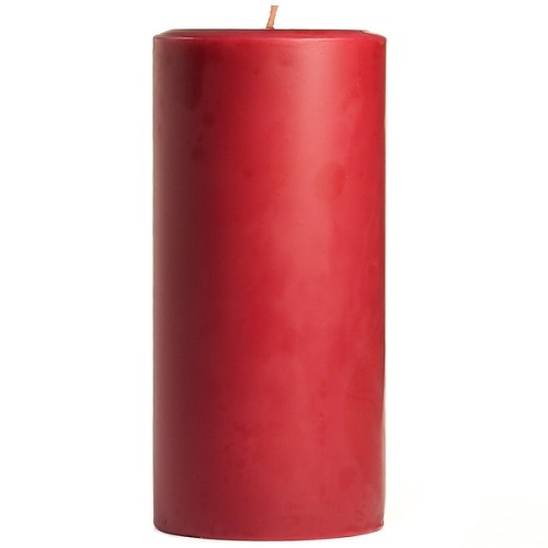 3x6 Scented Raspberry Cream Pillar Candle