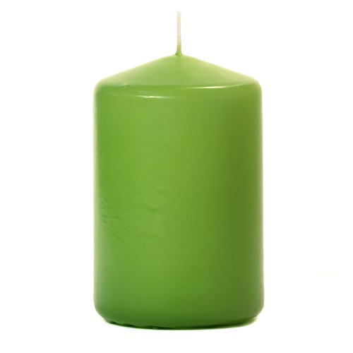3x4 Unscented Lime Green Pillar Candle