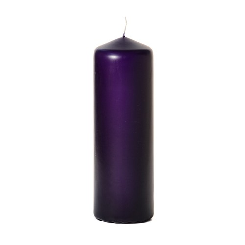 3x9 Unscented Lilac Purple Pillar Candle