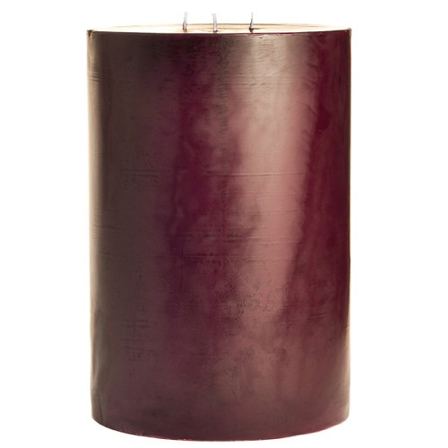 6x9 Scented Spiced Plum Pillar Candle