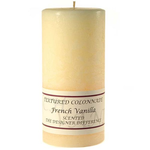 3x6 Scented French Vanilla Rustic Pillar Candle